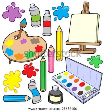 Fine arts collection 1 - vector illustration. - stock vector