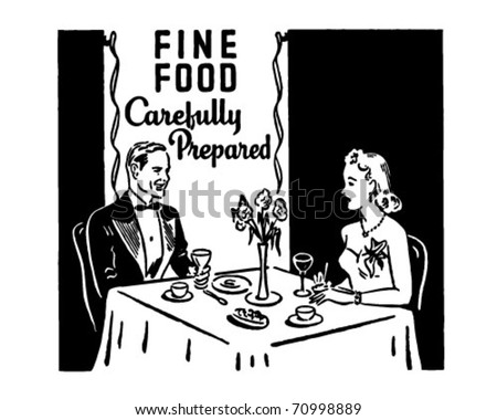 Fine Food - Retro Ad Art Banner