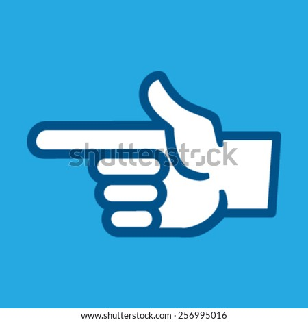 Finger Point Vector Icon - stock vector