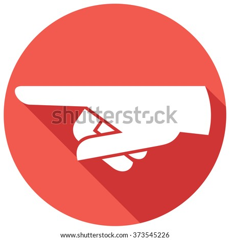 finger pointing flat icon - stock vector