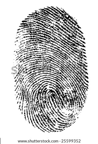 Finger print isolated on white background Vector - stock vector