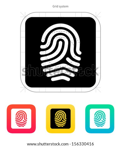 Fingerprint and thumbprint icon. Vector illustration. - stock vector