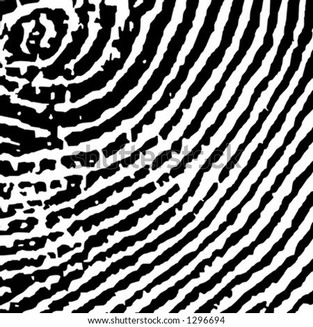 Fingerprint Crop - stock vector