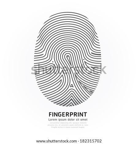 Fingerprint line design vector illustration. - stock vector