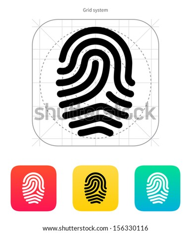 Fingerprint loop type icon. Vector illustration. - stock vector