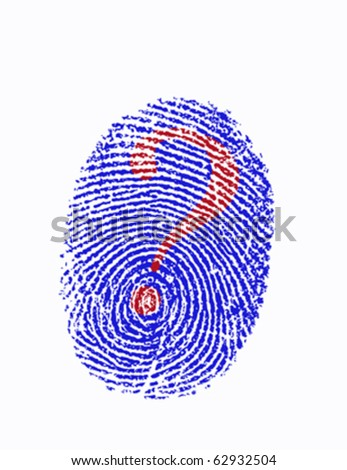 Fingerprint (vector) - stock vector