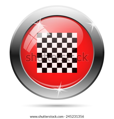 Finish flag icon. Internet button on white background.  - stock vector