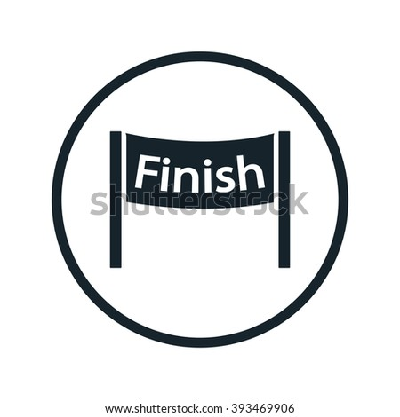 finish icon - stock vector