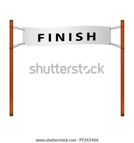 Finish line - stock vector