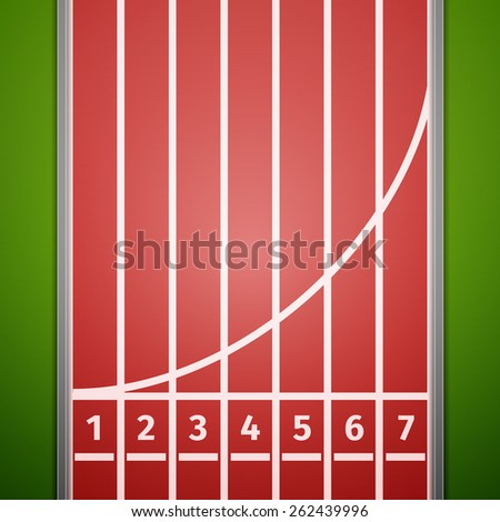 Finish line on running track. Vector, excellent vector illustration, EPS 10 - stock vector