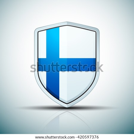 Finland Shield sign - stock vector