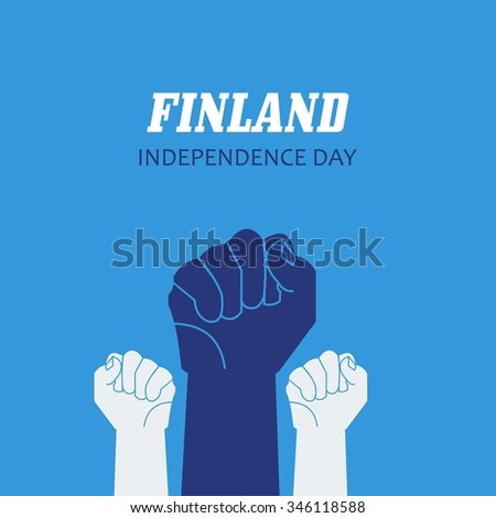Finnish Independence Day Celebrating 6th December Stock Vector 346118588 - Shutterstock