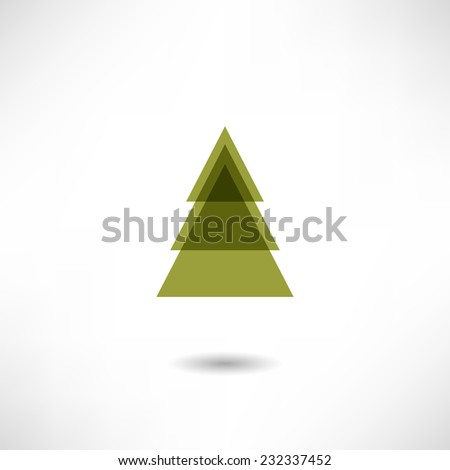 Fir-tree icon - stock vector