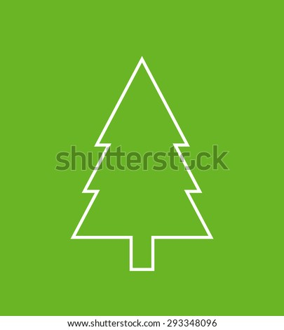 Fir tree outline icon, modern minimal flat design style ...