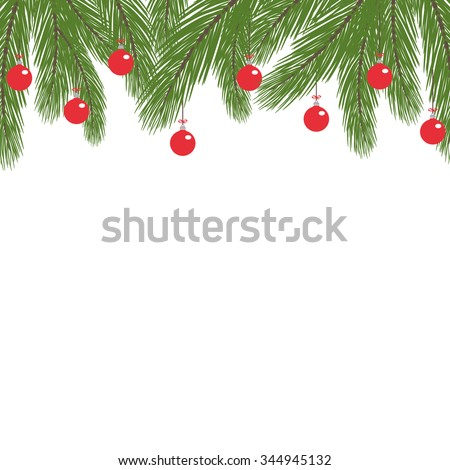 Fir Twig Decoration with Baubles
