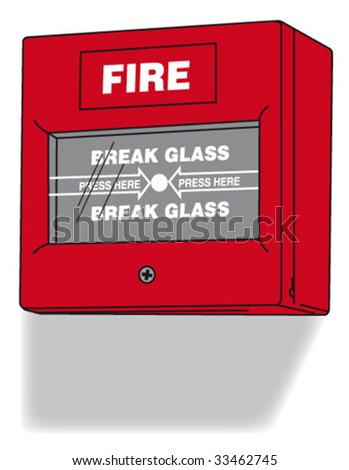 fire alarm control unit - stock vector