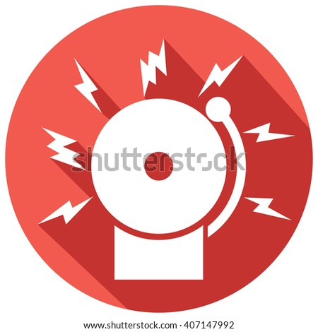 fire alarm icon (bell) - stock vector