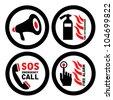 fire alarms vector signs - stock vector
