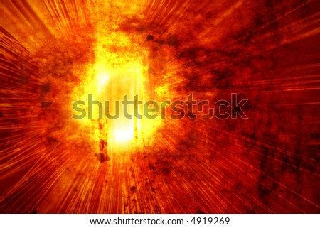 Fire Blast - stock vector