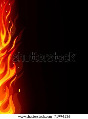 Fire card - stock vector