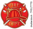 Fire Department or Firefighters Maltese Cross Symbol - stock photo