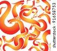 fire dragon pattern 2012 - stock vector