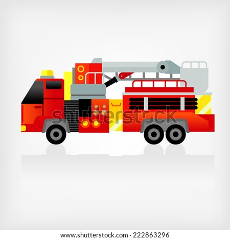 fire engine - stock vector