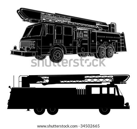 Fire Engine Vector 01 - stock vector