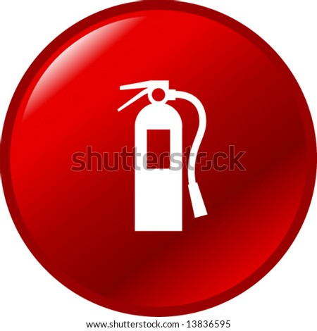 fire extinguisher button - stock vector