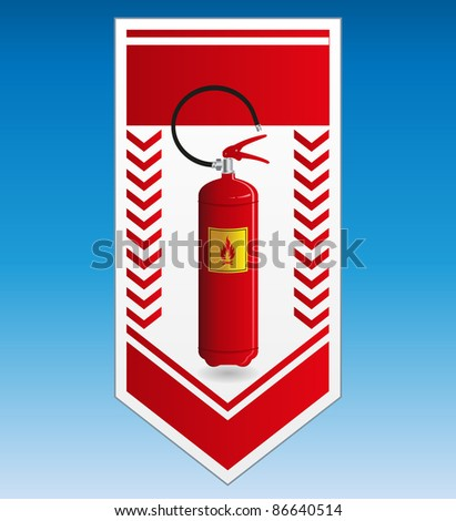 Fire extinguisher label - stock vector