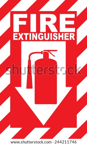 Fire Extinguisher Place Here - stock vector