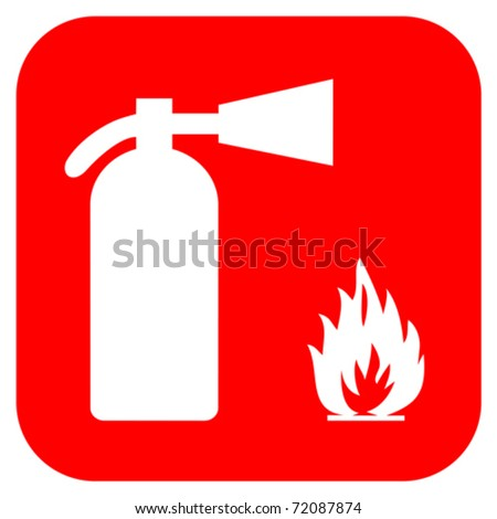 Fire extinguisher sign - stock vector