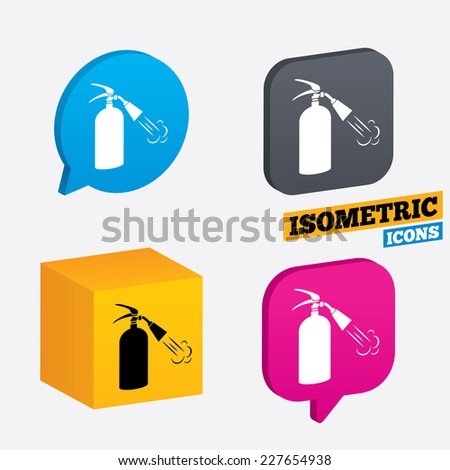 Fire Extinguisher Sign Icon Fire Safety Stock Vector 227654938