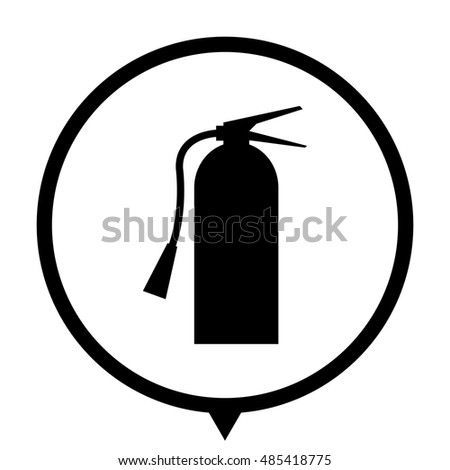 Fire Extinguisher Symbol Sign Black Vector Stock Vector 485418775