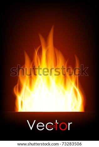 Fire (flame) - stock vector