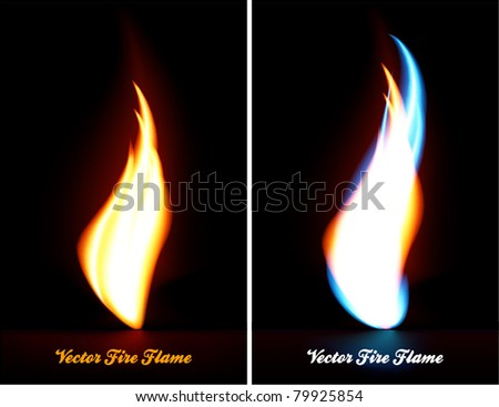 Fire flame - stock vector