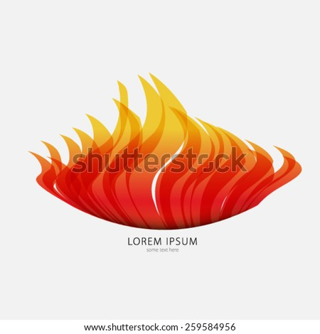 Fire/Flame Background - stock vector