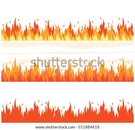 Fire flame background set fire banner 551884618 fire flame background set of fire banner vector illustration voltagebd Images