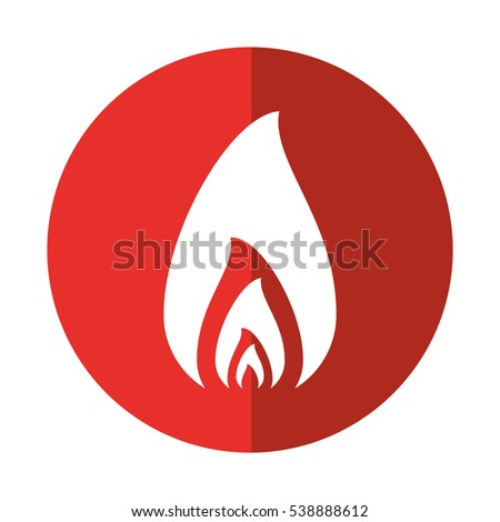 fire flame burning hot design red circle