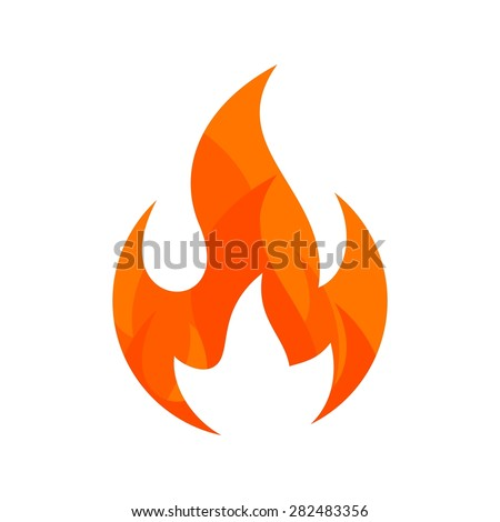 Fire Flame. fire Logo vector template. Fireball logotype icon vector. - stock vector
