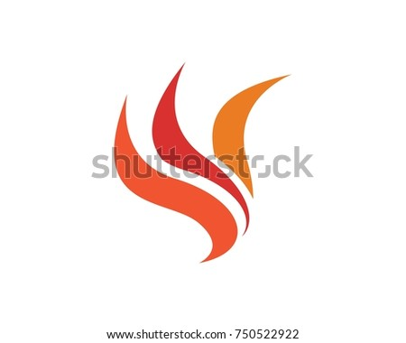 fire flame logos template stock vector 750522922 shutterstock rh shutterstock com flame logo clip art flame logo split hoodie