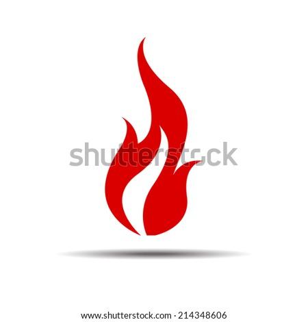 fire flame vector icon - stock vector