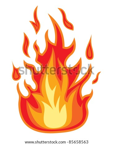Fire flame. Vector illustration - stock vector