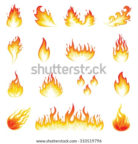 Fire Flames - stock vector