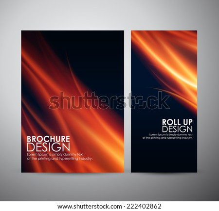 Fire flames background. Brochure business design template or roll up.  - stock vector