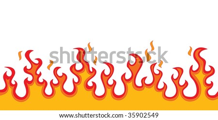 Fire Flames (vector). In the gallery also available XXL jpeg version of this image