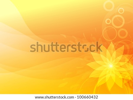 Fire flower - abstraction. Vector illustration - stock vector