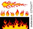 fire graphic elements vector - stock vector
