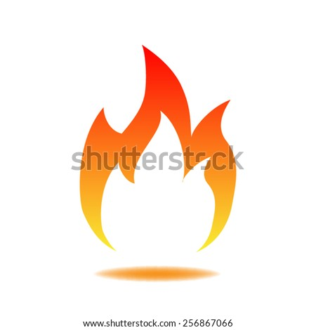 Fire icon - stock vector