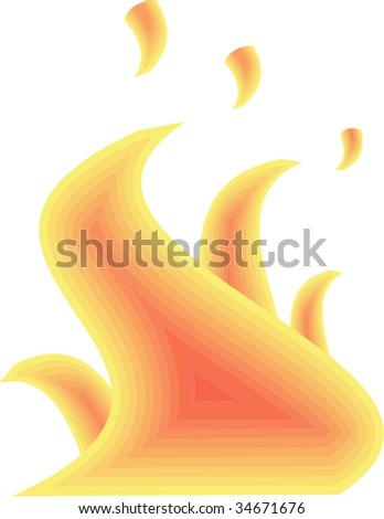 Fire.  Isolated Abstract Background Vector Illustration.